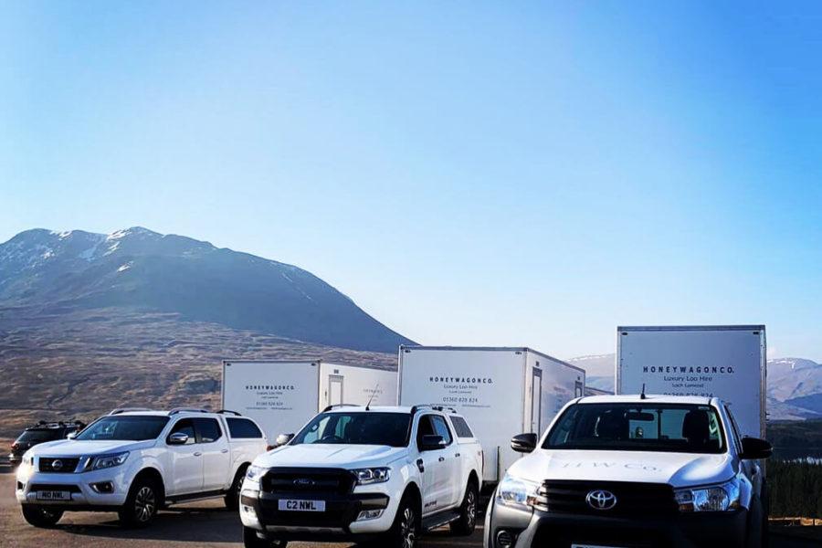 Honeywagon Trucks with toilets